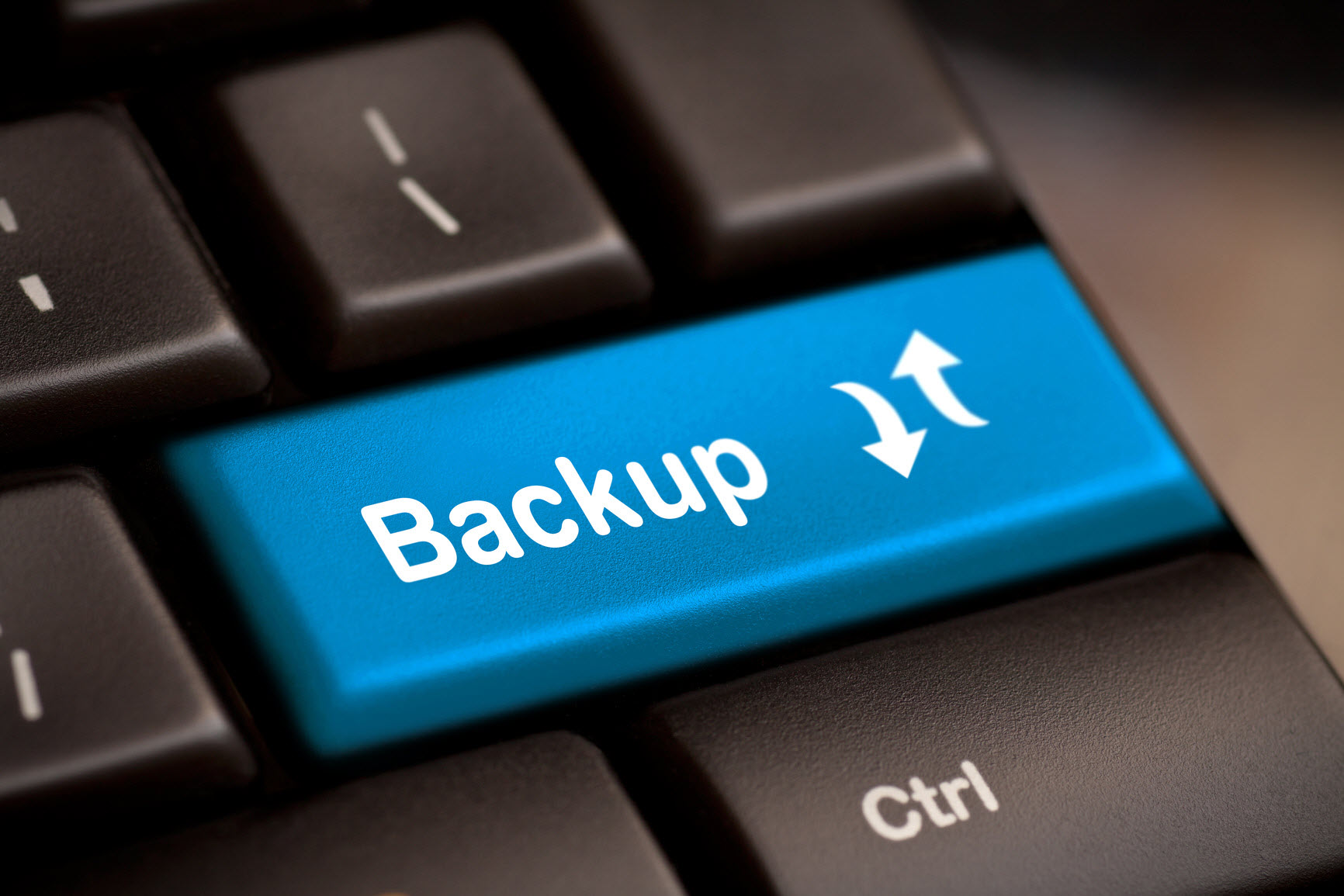 Cybersecurity Tips: Backup button on keyboard