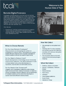 Remote Digital Forensics Fact Sheet